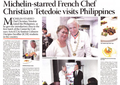 CCA Escoffier Business Mirror