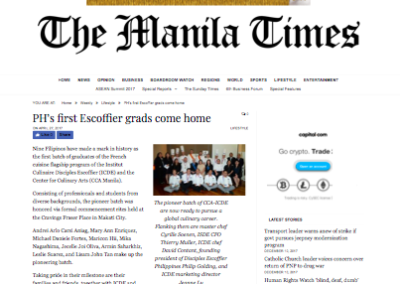 PH's first Escoffier grads come home – The Manila Times Online